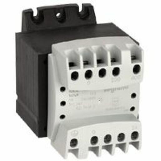 Transformateur de sécurité primaire 230V à 400V et secondaire 24V~ - 100VA
