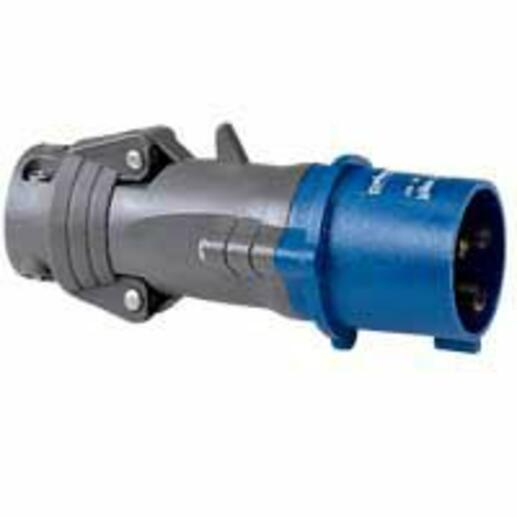 Fiche mobile droite Hypra IP44 16A - 200V~ à 250V~ - 2P+T - plastique