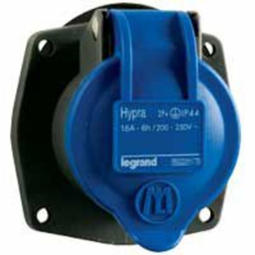 Prise transfert direct Hypra 16A pour remplacement Martin Lunel 16A 3P+T 200V~ à 250V~ - plastique