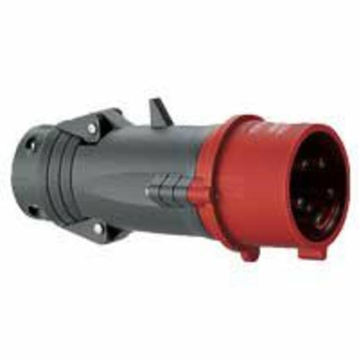 Fiche mobile droite Hypra IP44 32A - 380V~ à 415V~ - 3P+N+T - plastique