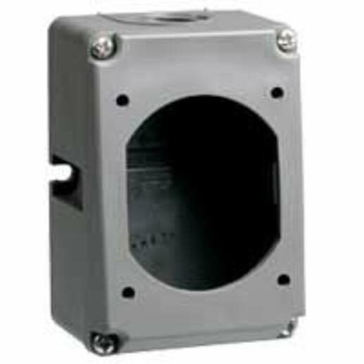Boîtier réversible Hypra IP44 pour socles TBT 16A et 32A 2P et 3P - plastique