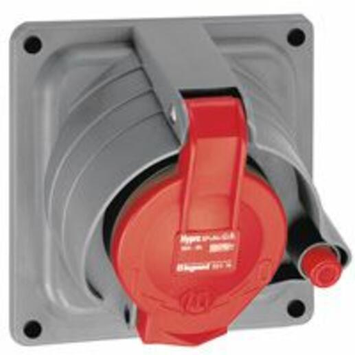 Prisinter fixe Hypra IP44/55 32A - 380V~ à 415V~ - 3P+N+T - plastique
