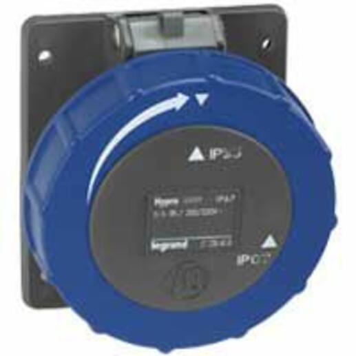 Prise à entraxes unifiés Hypra 2P+T IP66/67-55 - 200V~ à 250V~ - plastique