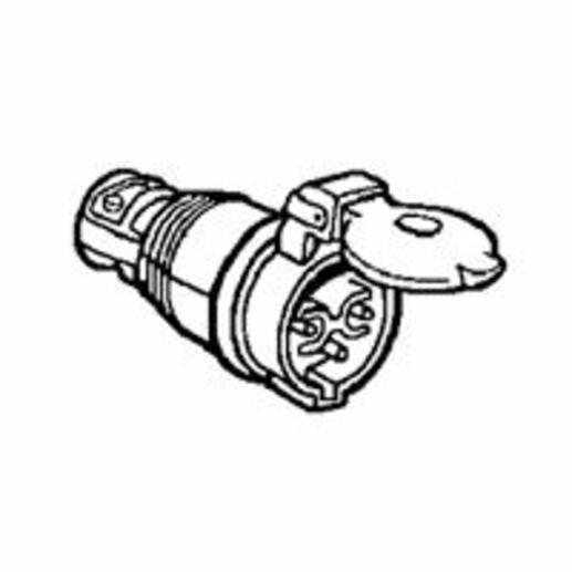 Prise mobile caoutchouc avec collier d'amarrage Martin Lunel 2P IP44 16A 24V~