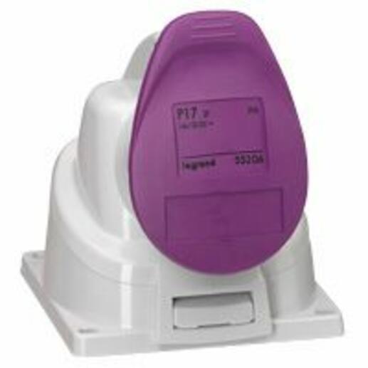 Prise saillie fixe P17 IP44 32A - 20V~ à 25V~ - 2P