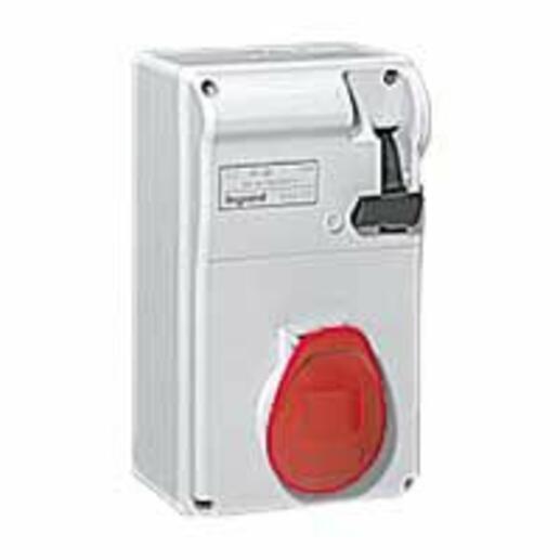 Coffret P17 IP44 avec interrupteur et 1 prise 16A 3P+N+T - 380V~ à 415V~ - 50Hz à 60Hz