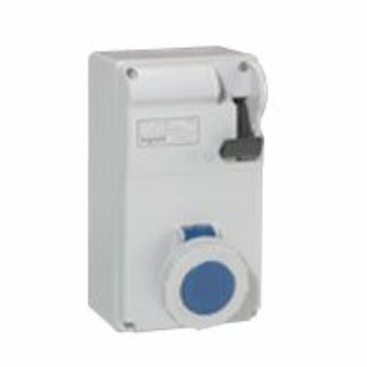 Coffret P17 IP55 avec interrupteur et 1 prise 16A 2P+T - 200V~ à 250V~ - 50Hz à 60Hz