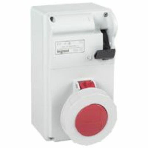 Coffret P17 IP55 avec interrupteur et 1 prise 32A 3P+N+T - 380V~ à 415V~ - 50Hz à 60Hz