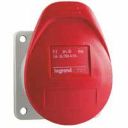 Prise à encombrement réduit fixe P17 IP44 16A - 380V~ à 415V~ - 3P+N+T