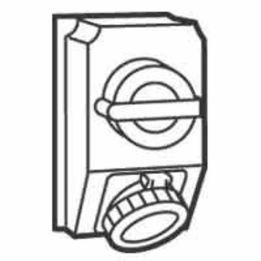 Coffret monoprise Hypra IP66/67-55 - 1 prise 2P+T 32A 200V~ à 250V~ et 1 interrupteur