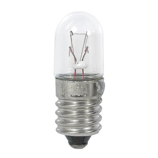 Ampoule culot E10 12V - 0,25A 3W - pour bloc autonome d'éclairage de sécurité