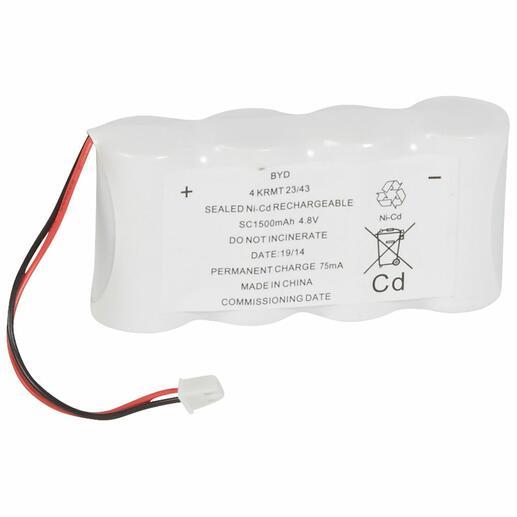 Batterie Ni-Cd - 2x4,8V 1,5Ah pour BAES d'ambiance à tube fluorescent IP43 ECO1