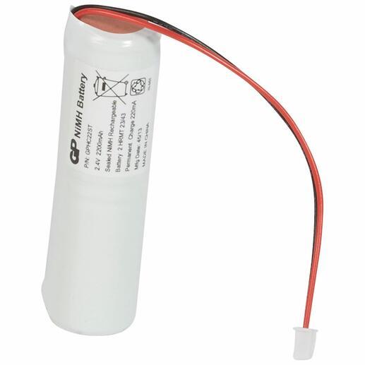Batterie Ni-Mh - 2,4V 2Ah pour blocs d'évacuation , dispositif de balisage renforcé et BAEH à LEDs IP66 ECO2