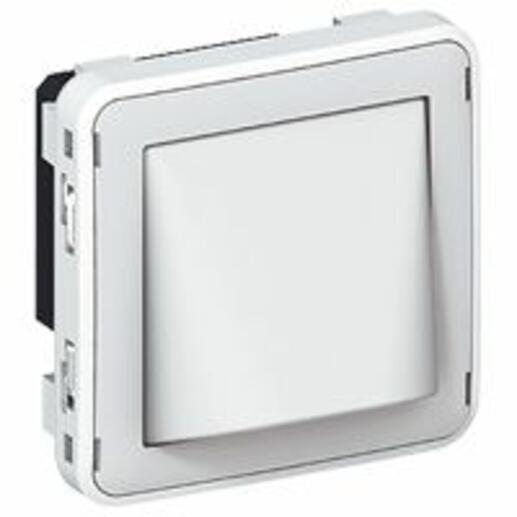 Détecteur de gaz Plexo composable IP31 - gris et blanc