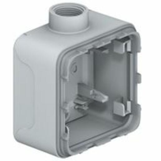 Boîtier à presse-étoupe 1 poste ISO20 Plexo composable IP55 - gris