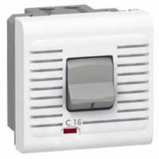 Disjoncteur magnétothermique Uni+Neutre 230V~ 16A Mosaic 2 modules - blanc