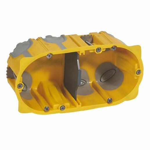 Boîte multipostes Ecobatibox 2 postes ou 4 à 5 modules - profondeur 50mm