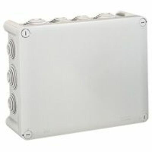 Boîte de dérivation rectangulaire - 220x170x86 mm - fermeture 1/4 de tour - gris