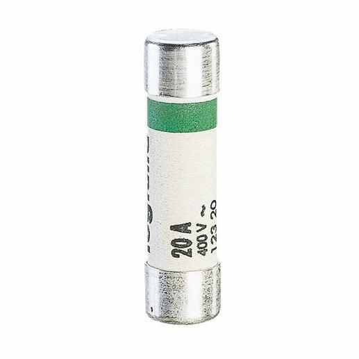 Cartouches fusibles pour porte-fusibles - sans témoin - 8,5x31,5mm - 20A