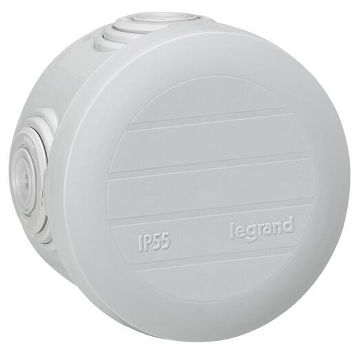 Boîte de dérivation ronde - Ø60mm, profondeur 40mm - fermeture par enclipsage - gris