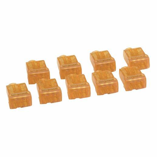 Borne de connexion Nylbloc auto pour fils rigides - 9 bornes oranges pour 3 fils