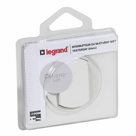 Interrupteur ou va-et-vient avec plaque Céliane Soft - 10A - Blanc