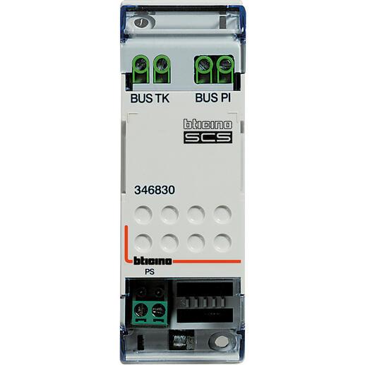 Adaptateur modulaire vidéo pour installations vidéo BUS 2 fils - 2 modules