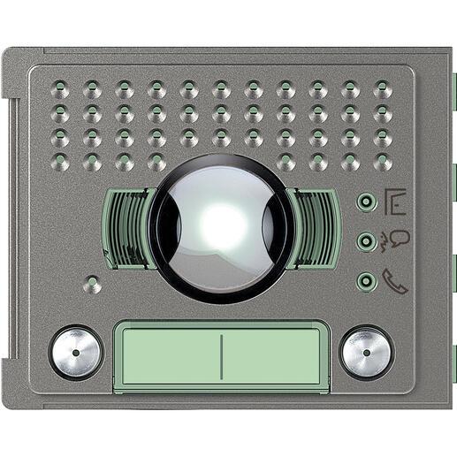 Façade Sfera Robur pour module électronique audio et vidéo 2 appels grand angle