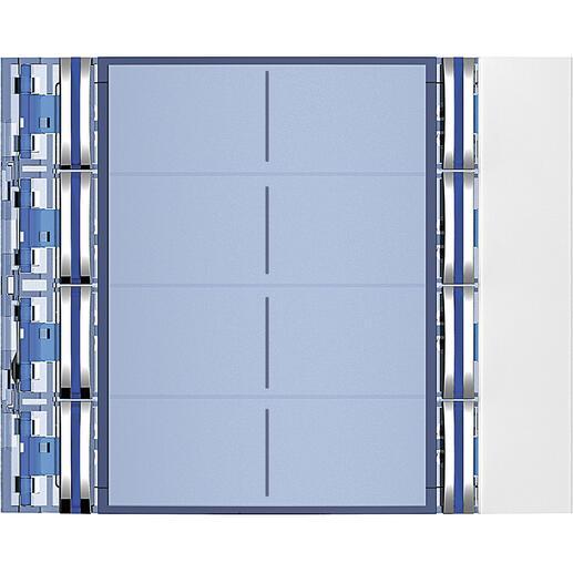 Façade Sfera New pour module électronique audio 8 appels sur 2 rangées Allwhite
