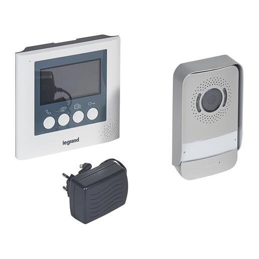 Kit portier visiophone avec interphone et écran 4,3pouces