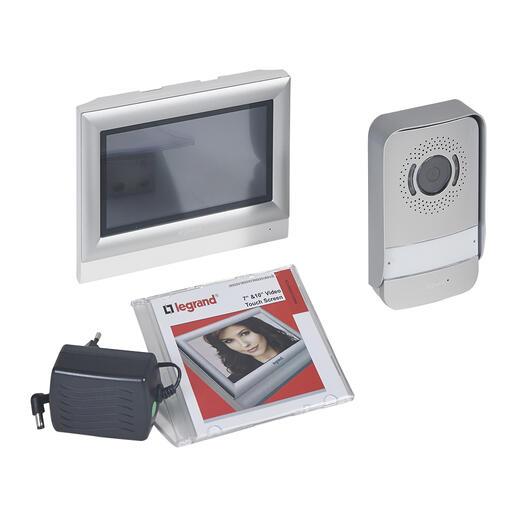 Kit portier visiophone avec interphone et écran tactile 7pouces