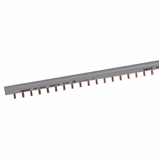 Peigne d'alimentation bipolaire HX³ traditionnel pour bornes à vis - longueur 56 modules maximum 28 appareils