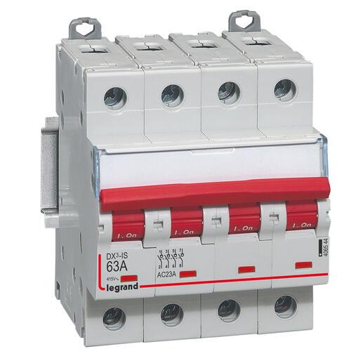 Interrupteur-sectionneur DX³-IS à déclenchement 4P 400V~ - 63A - 4 modules