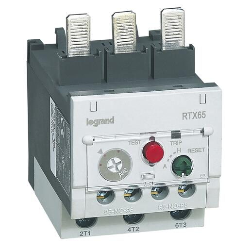 Relais thermique RTX³65 pour contacteurs CTX³65 - contacts auxiliaires intégrés 1NO+1NF - 16A à 22A