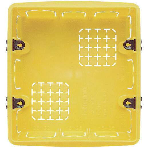 Boîte d'encastrement pour maçonnerie 3+3 modules - profondeur 50mm