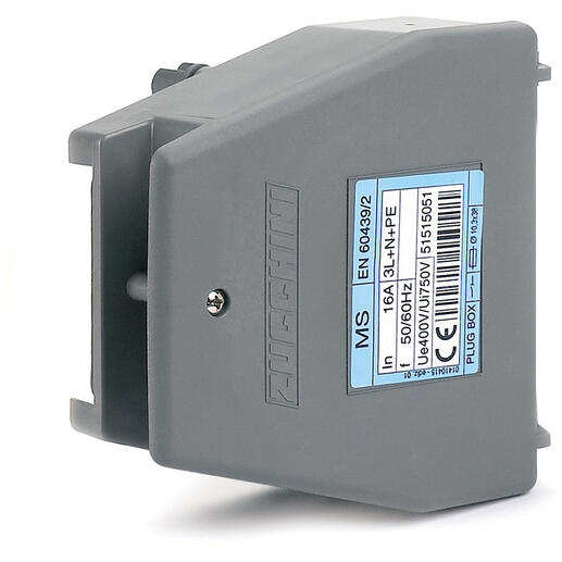 Boîte de dérivation avec déconnexion sur couvercle pour MS - avec porte-fusible pour fusible 10,3x38