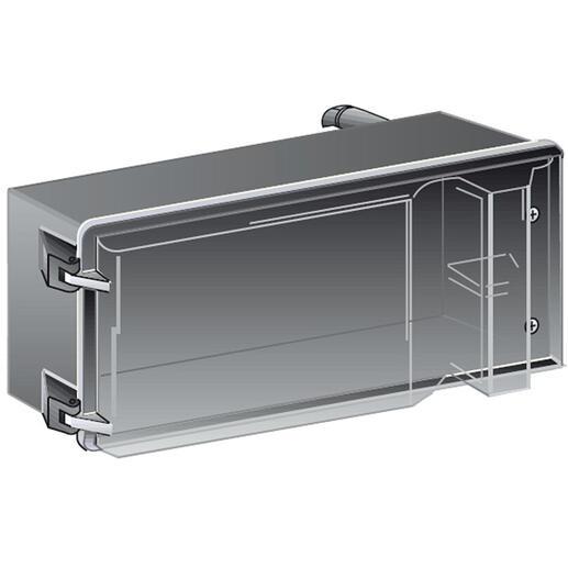 Boîte de dérivation avec déconnexion sur couvercle pour MS - avec couvercle transparent