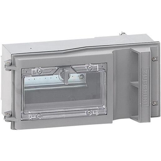 Boîte de dérivation pour mini canalisation MS - déconnexion sur couvercle - fenêtre pivotante 7 modules - 63A
