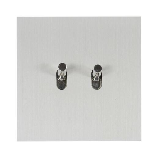 Art d'Arnould univers Epure double va-et-vient ou interrupteur - acier brossé