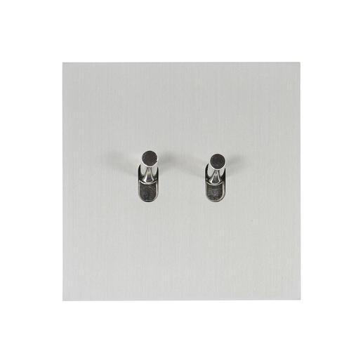 Art d'Arnould univers Epure double poussoir - acier brossé