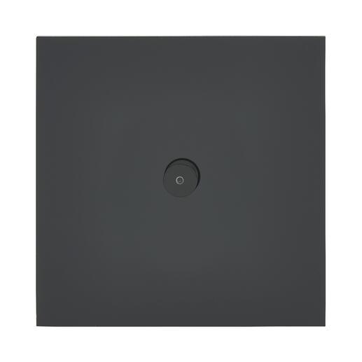 Art d'Arnould univers Epure poussoir lumineux à bouton rond 2A - noir mat