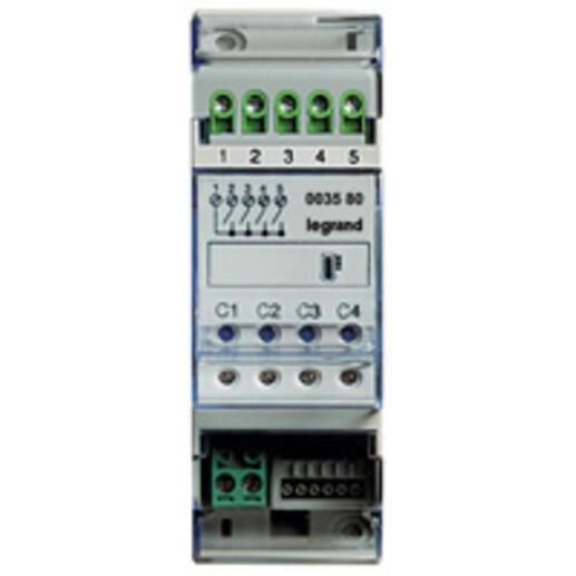 Actionneur modulaire 4 relais indépendants gestion de température MyHOME_Up - 2 modules