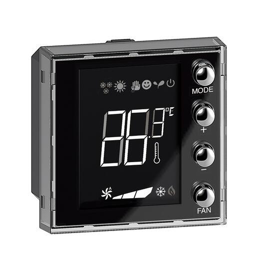 Ecran 1,6pouces de contrôle de thermorégulation BUS KNX Axolute avec 4 boutons-poussoirs et une sonde de température