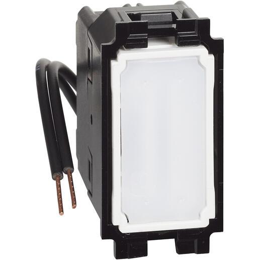 Permutateur lumineux ou témoin avec LED bleue 10A Living Now - 1 module