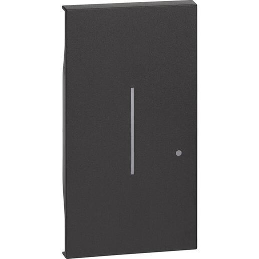 Enjoliveur Living Now with Netatmo pour interrupteur variateur connecté sans neutre 2 modules - noir mat