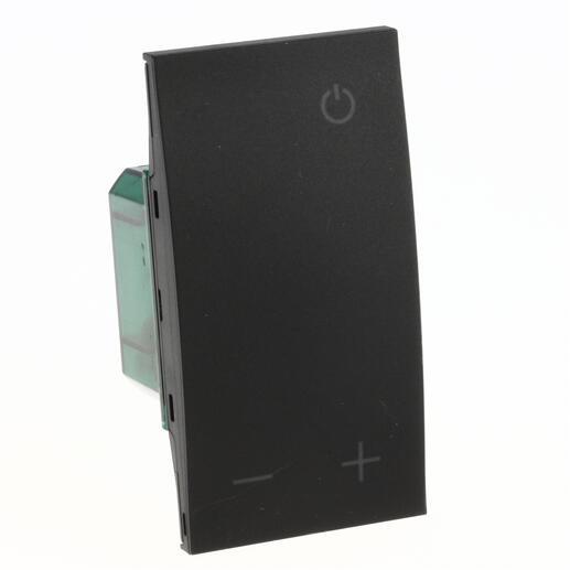 Thermostat Living Now avec afficheur pour contrôle sur 1 zone MyHOME_Up 2 modules - noir mat