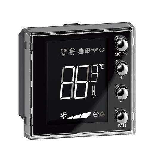 Ecran 1,6pouces de contrôle de thermorégulation BUS KNX Livinglight avec 4 boutons-poussoirs et 1 sonde de température