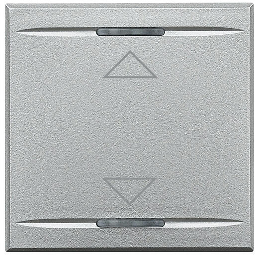 Manette MyHOME BUS Axolute symbole montée et descente 2 modules - alu