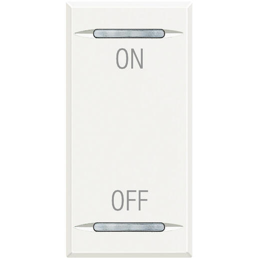 Manette MyHOME BUS Axolute symbole ON et OFF 1 module - white