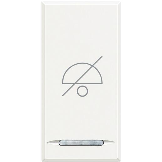 Manette Axolute avec symbole Ne Pas Déranger 1 module - white